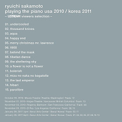 Playing The Piano USA 2010 - Ryuichi Sakamoto